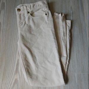 J. Crew Toothpick Super Skinny Stretch Cord Pants